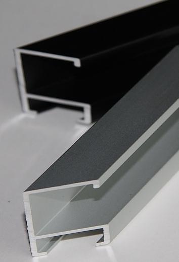 baguette de cadre al noir mat 162516 alu pr coup 45. Black Bedroom Furniture Sets. Home Design Ideas